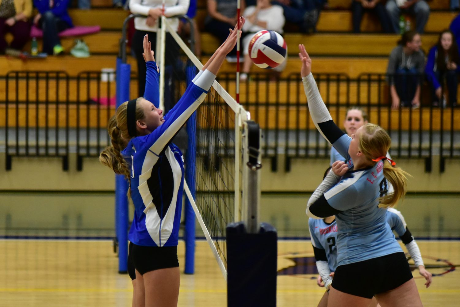 The Merrill girls volleyball team made it to the sectional finals in 2015.