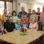 The family of Lenore Krueger gathers for a photo following Lenore's surprise 99th Birthday celebration Tuesday afternoon at Park Place.