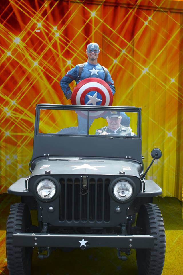 Mayor Bill Bialecki prepares to 'roll out' with Captain America